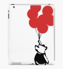Flying Balloon Bear - Off Center Version (Red) iPad Case/Skin