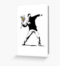 Rage Flower Bomber Stencil Greeting Card