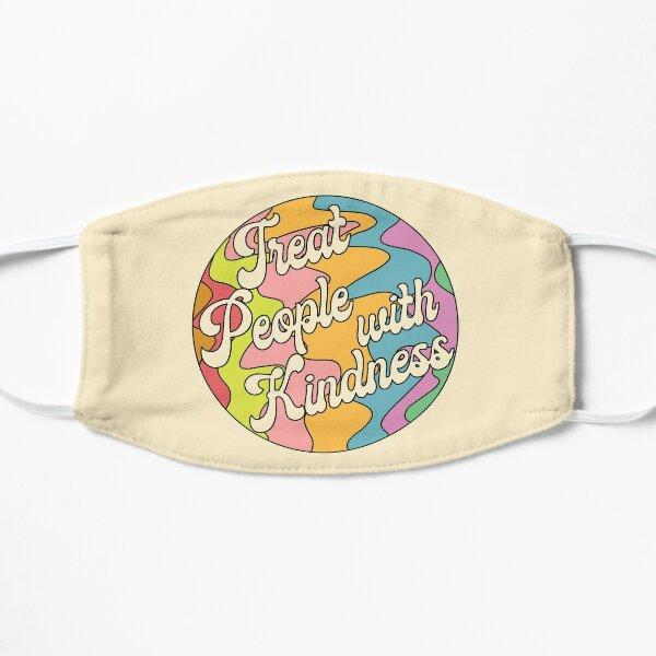 Groovy Treat 'Em With Kindness Design Flat Mask