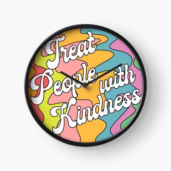 Groovy Treat 'Em With Kindness Design Clock