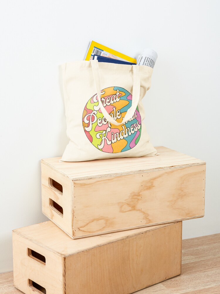 Alternate view of Groovy Treat 'Em With Kindness Design Tote Bag
