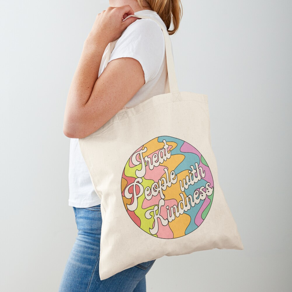 Groovy Treat 'Em With Kindness Design Tote Bag