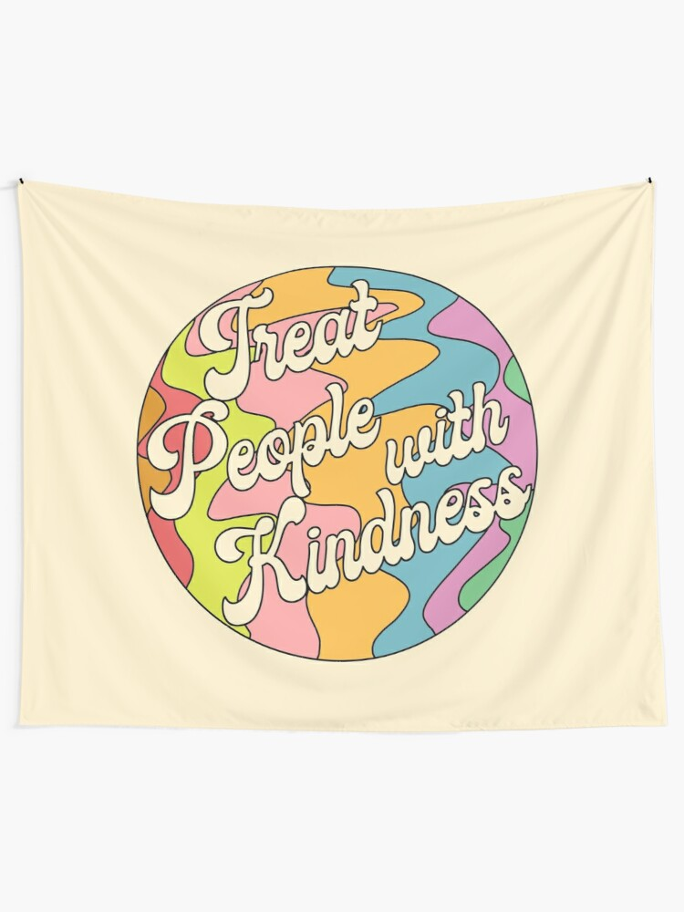 Alternate view of Groovy Treat 'Em With Kindness Design Tapestry
