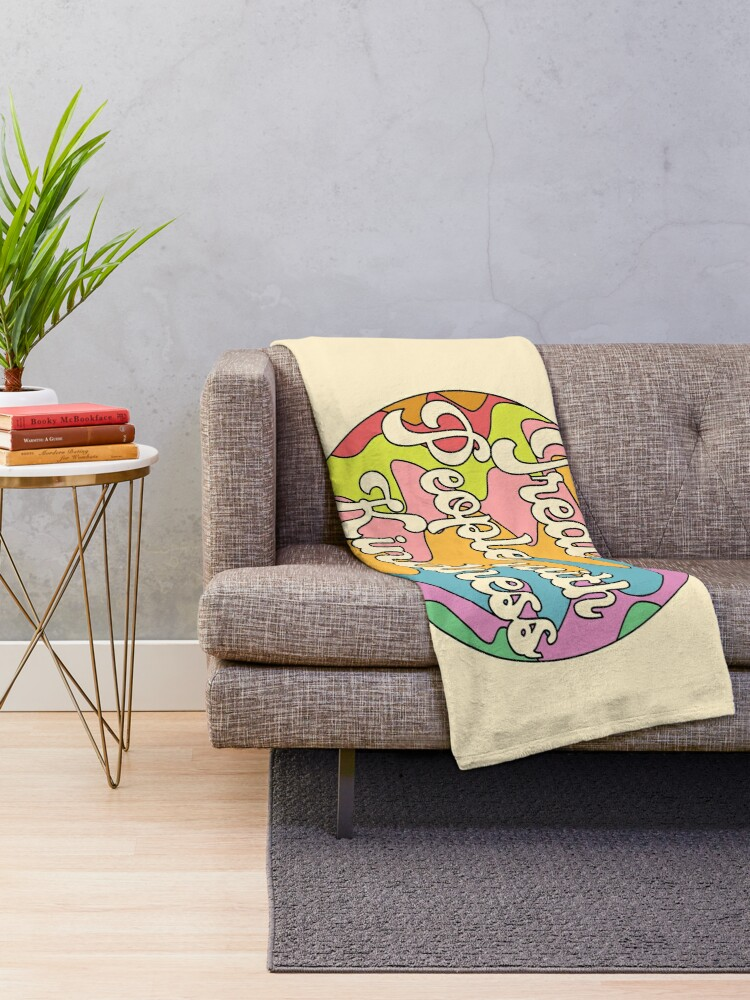 Alternate view of Groovy Treat 'Em With Kindness Design Throw Blanket