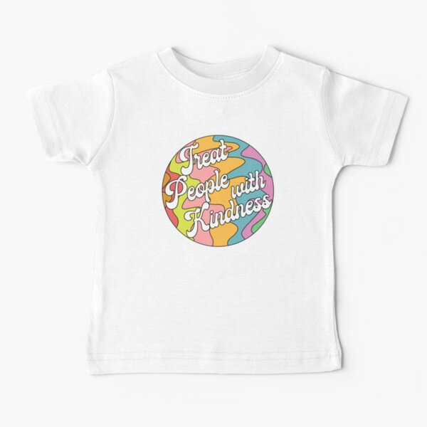 Groovy Treat 'Em With Kindness Design Camiseta para bebés