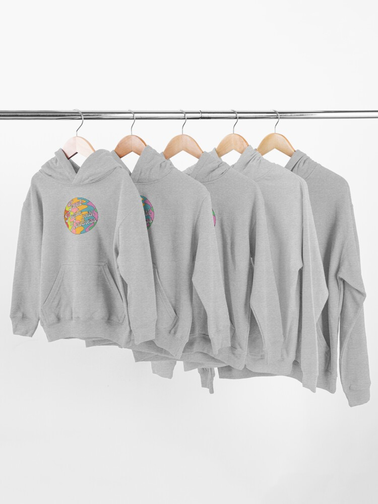 Alternate view of Groovy Treat 'Em With Kindness Design Kids Pullover Hoodie