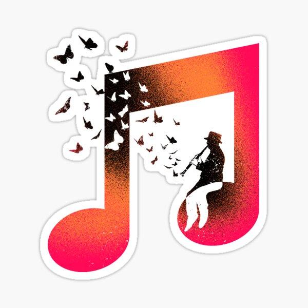 Music Clarinet Sticker