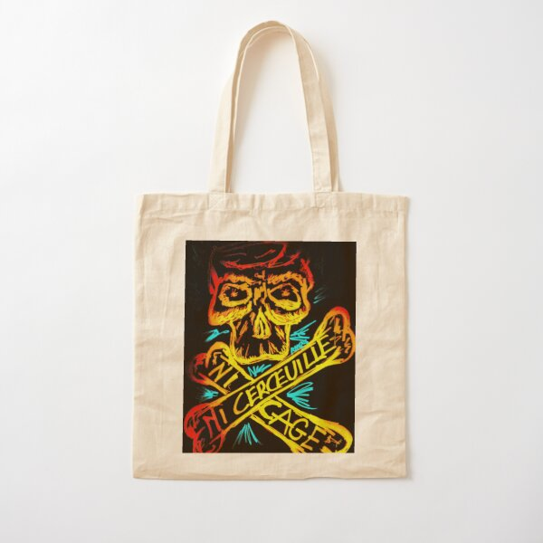 FRENCH PUNK NI CAGE NI CERCEUILLE Cotton Tote Bag