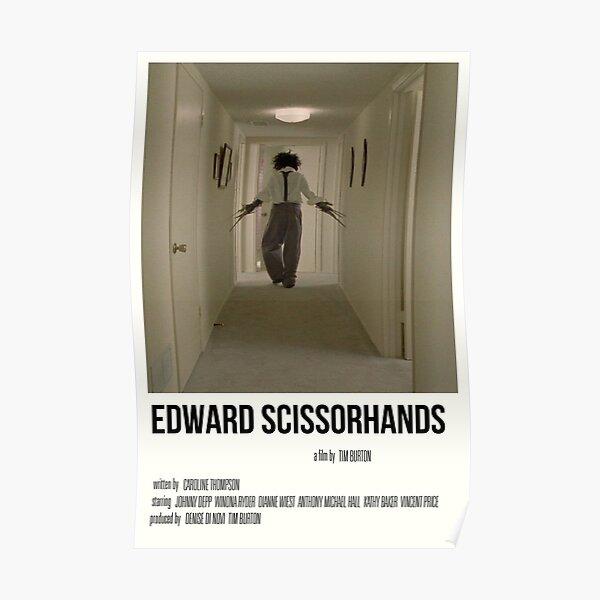 impression de film 'edward scissorhands' Poster