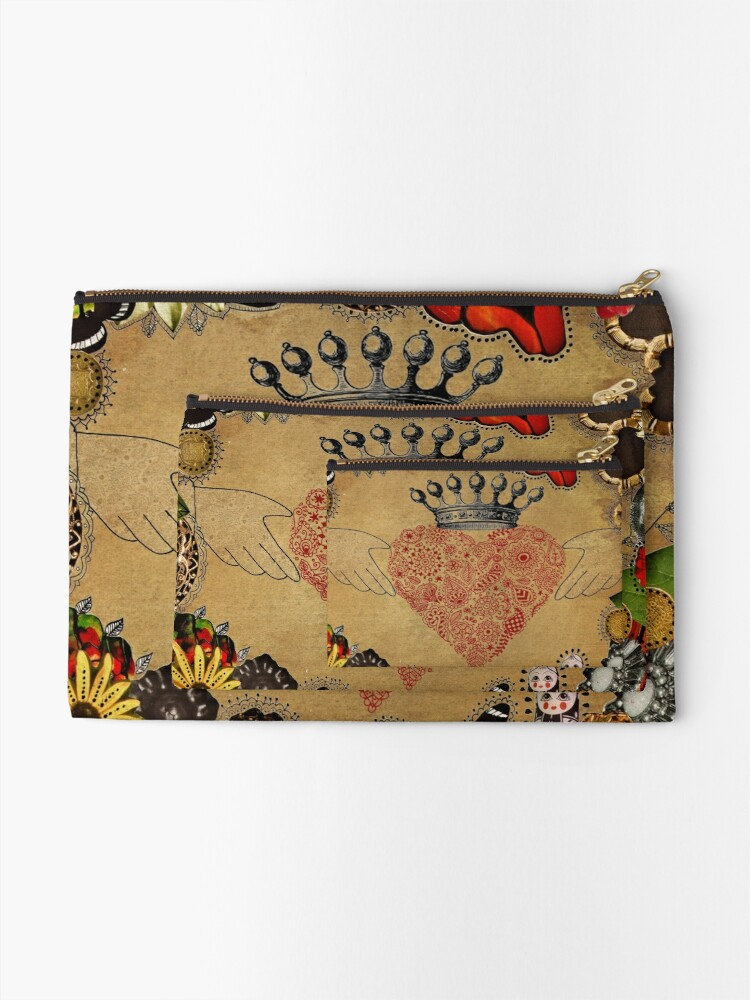 Alternate view of The Claddagh Zipper Pouch