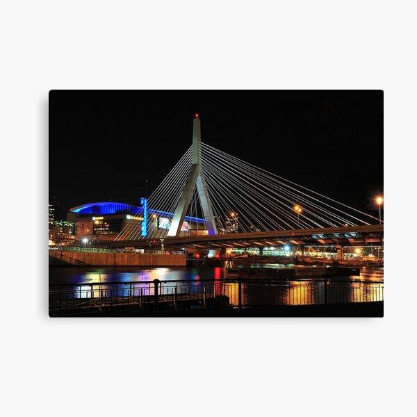 Boston's Zakim-Bunker Hill Bridge Canvas Print