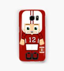 Super cute sports stars - American Football Red and White Samsung Galaxy Case/Skin