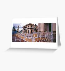 Plaza Mayor, Trinidad Cuba. Greeting Card