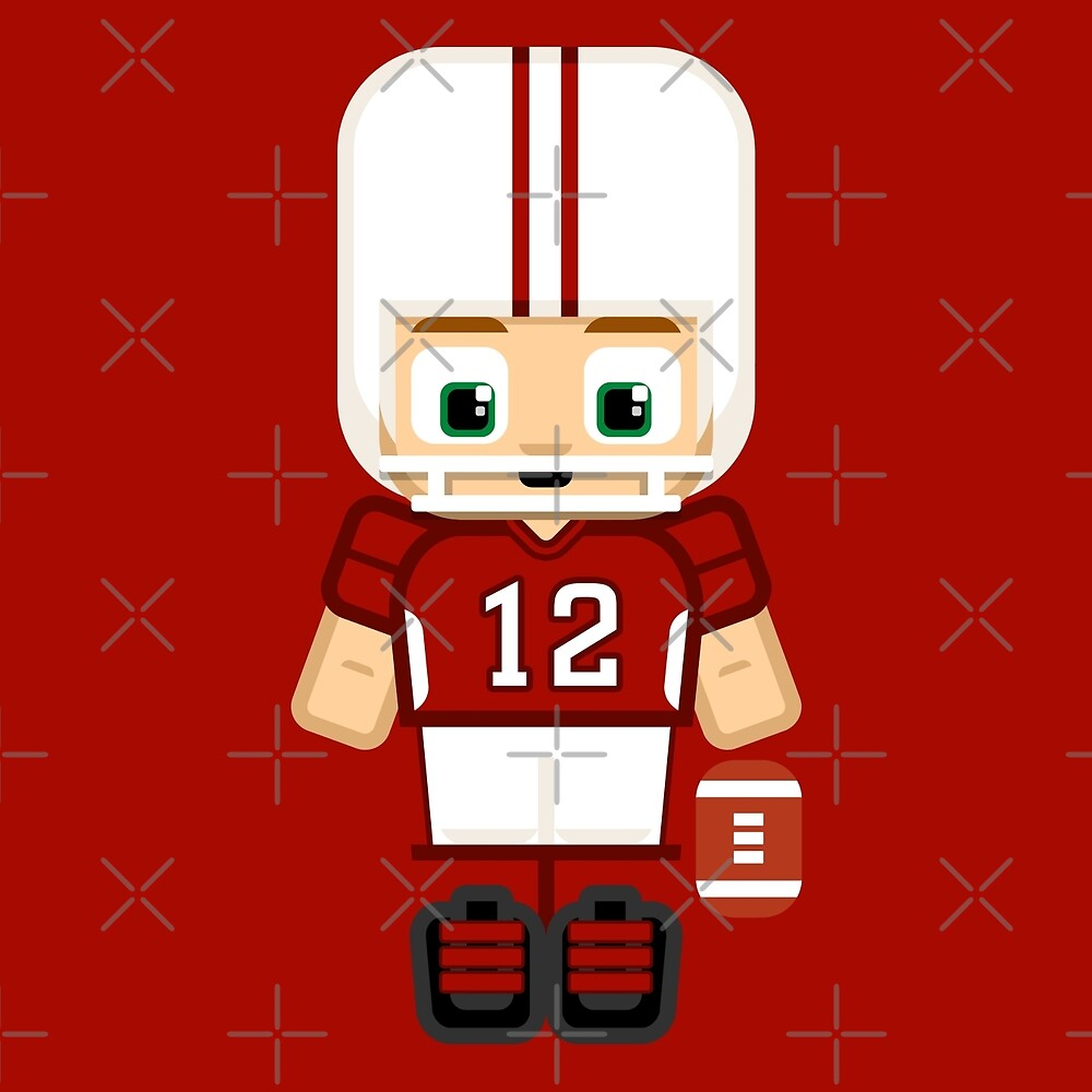 Super cute sports stars - American Football Red and White by boxedspaper