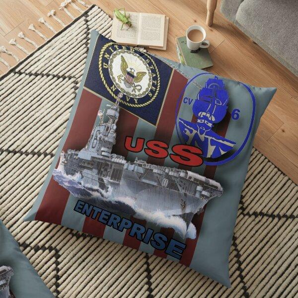 """""""USS ENTERPRISE"""" Floor Pillow"""