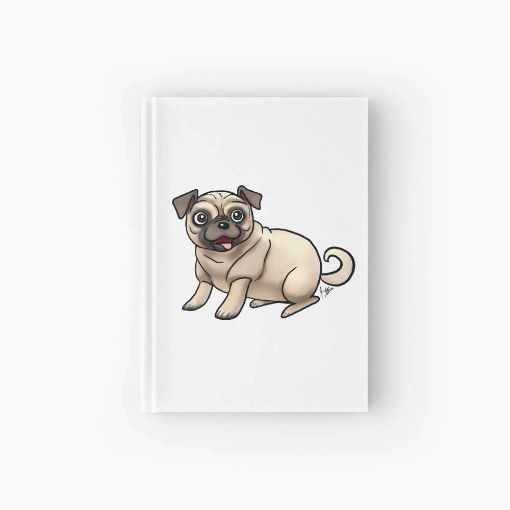 Pug - Fawn Hardcover Journal