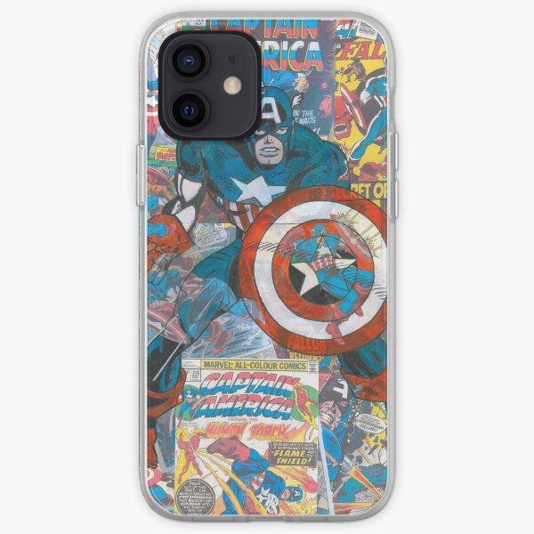 Vintage Comic Capt America Funda blanda para iPhone