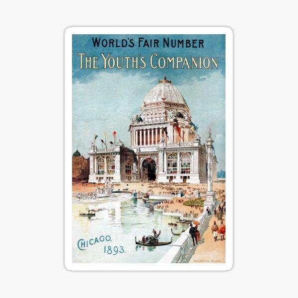 Vintage 1893 Chicago World's fair expo  Sticker