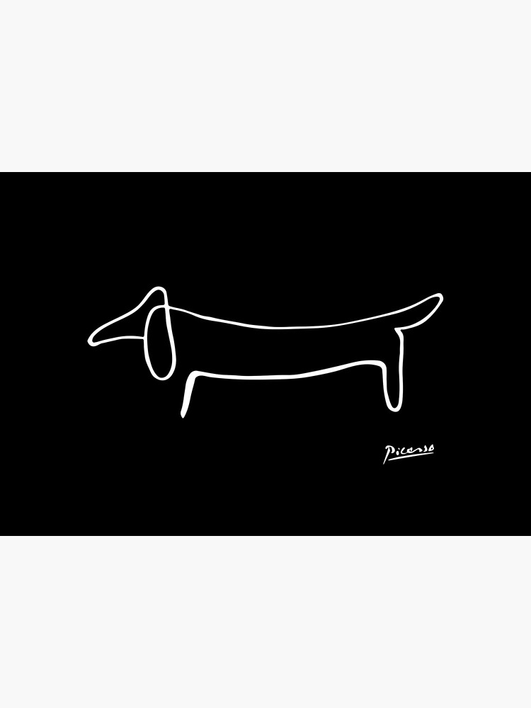 Pablo Picasso, Dachshund Dog, Lump Artwork, Animals Line Sketch, Prints, Posters, Bags, Tshirts, Men, Women, Kids by clothorama