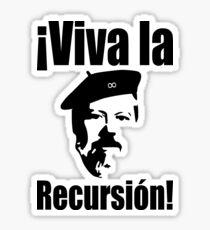Dennis Ritchie: ¡Viva la Recursión! - Black on Red Design for Programmers Sticker