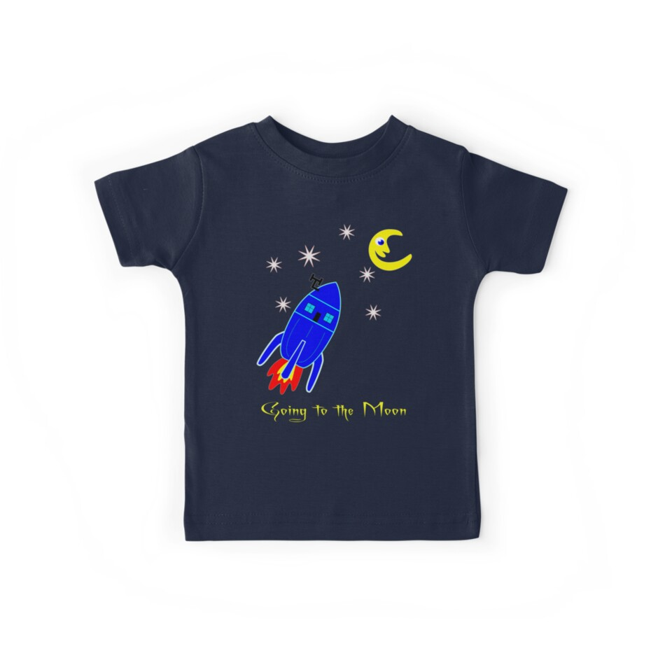 Fly Me to the Moon T-shirt design by Dennis Melling