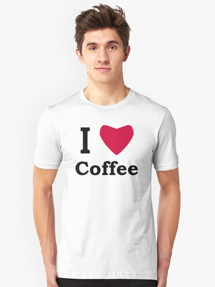 I Heart Coffee Unisex T-Shirt Front