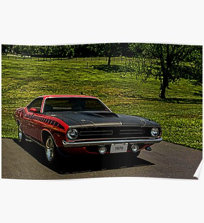 1970 Plymouth Barracuda Poster