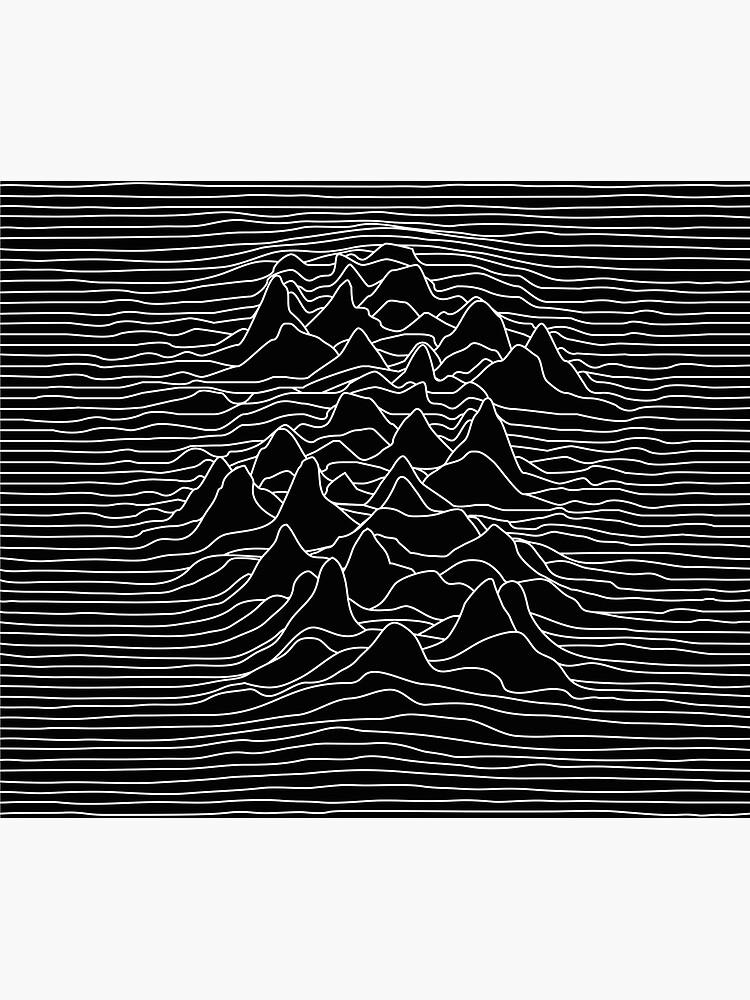 Black and white illustration - sound wave graphic  - black  by ohaniki