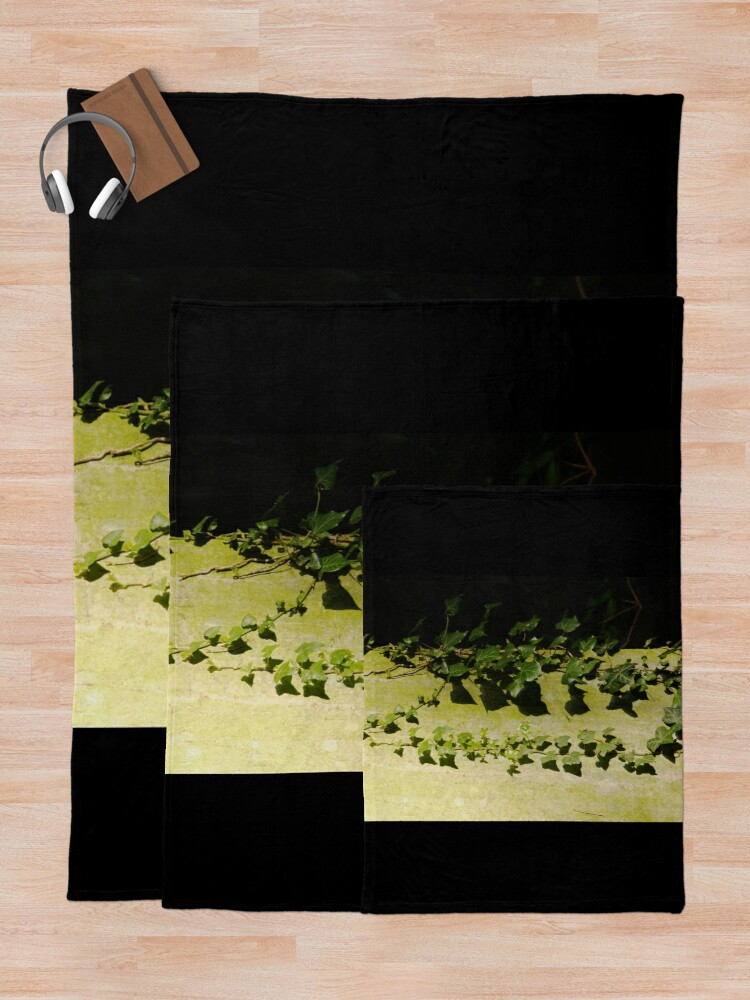 Alternate view of Trailing ivy on grave Throw Blanket