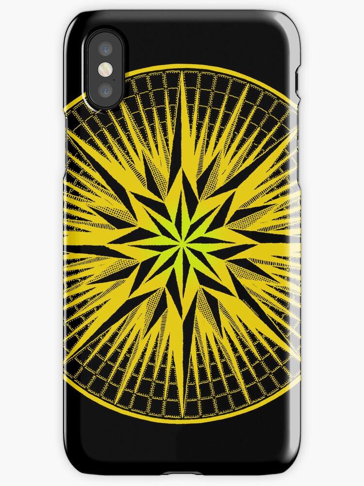 aztika gold mandala iPhone case by peter barreda