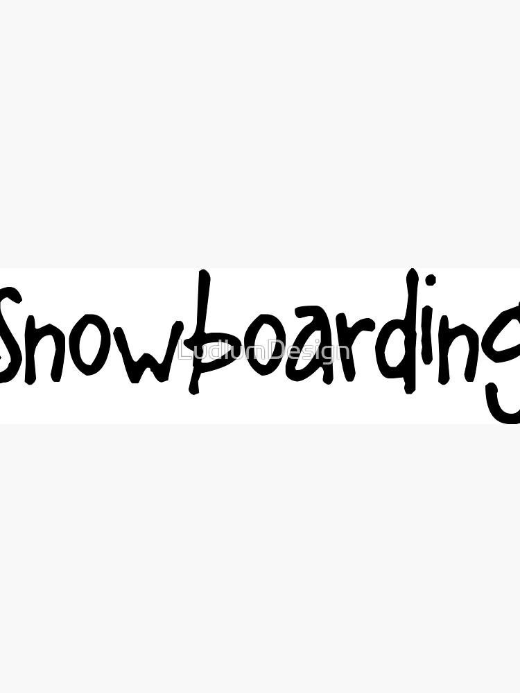 Snowboarding by LudlumDesign
