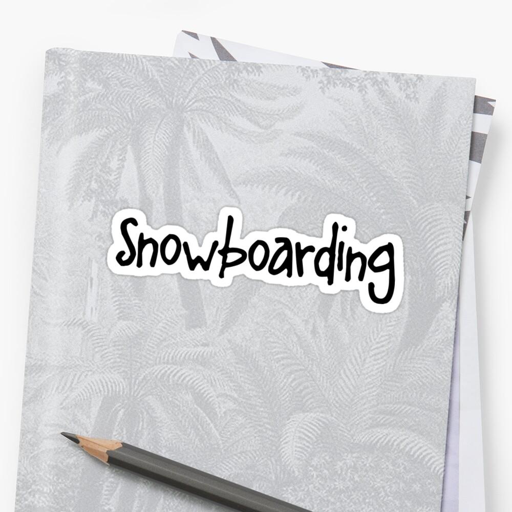Snowboarding Sticker Front
