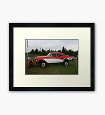 57 chevy turned snow plow Framed Print