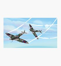 WW2 Vintage British fighter Aircraft Photographic Print