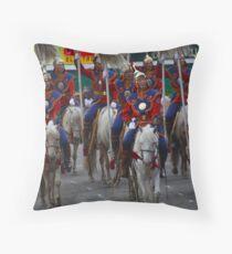 Mongolian Horsemen Throw Pillow