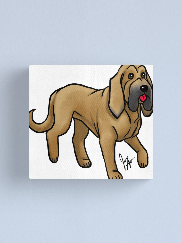 Alternate view of Bloodhound - Red Canvas Print