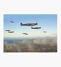 Spitfire - Squadron Inbound  Photographic Print