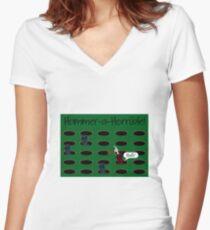 Hammer-a-Horrible Women's Fitted V-Neck T-Shirt