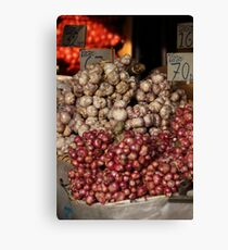 Onions and Garlic Canvas Print