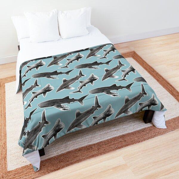 Infinity Sharks : Oceanic Whitetip Shark, Basking Shark, Whale Shark Comforter