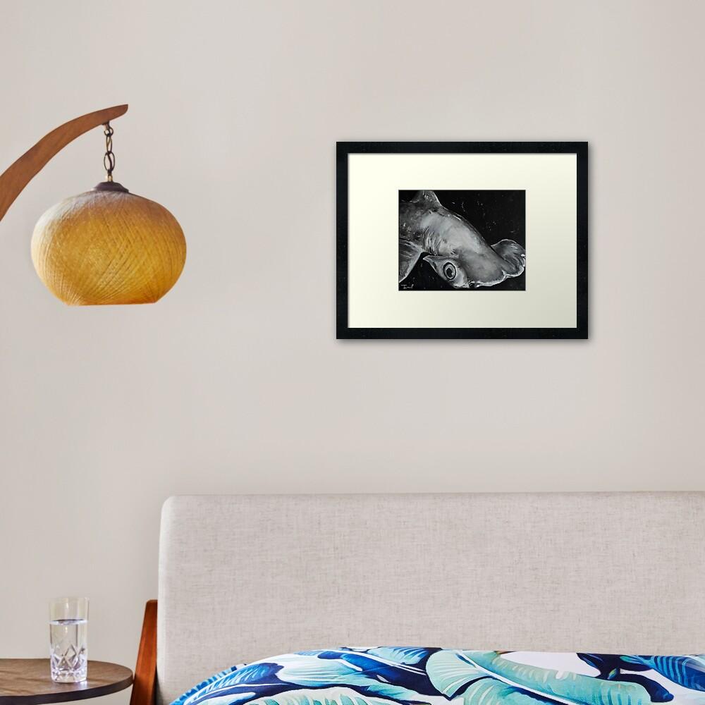 Hammerhead Shark Painting Framed Art Print