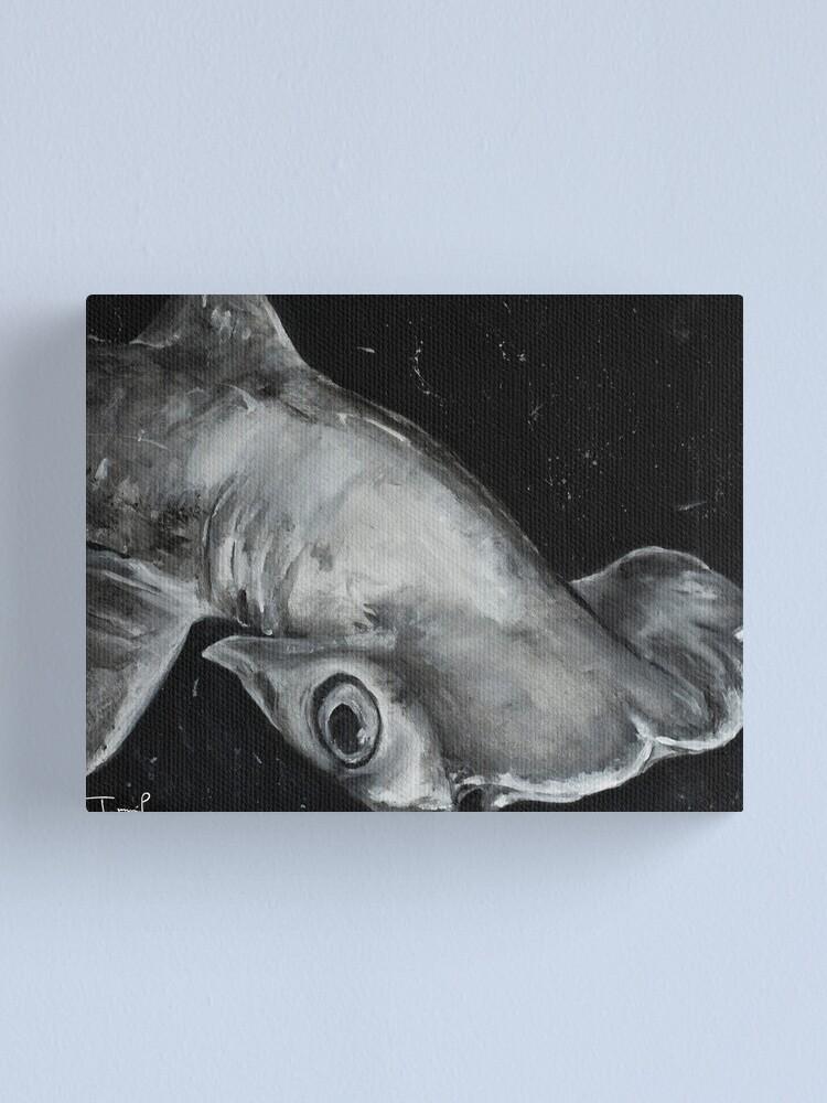 Alternate view of Hammerhead Shark Painting Canvas Print