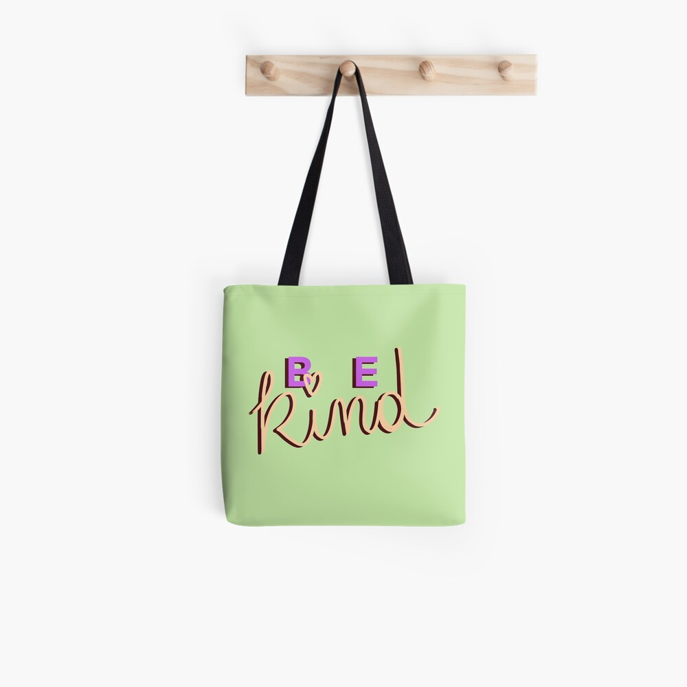 Be kind calligraphy Tote Bag