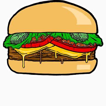 cheeseburger by beheadedbody