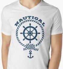 Nautigal Nautical T Shirt Men's V-Neck T-Shirt