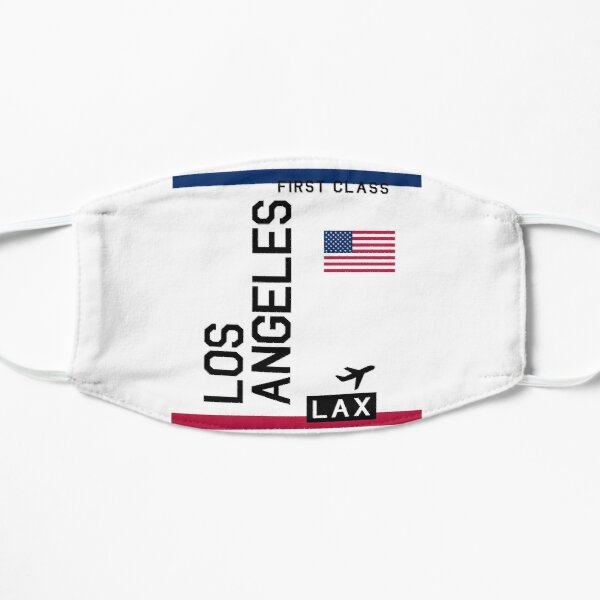 Flight Ticket Los Angeles Mask