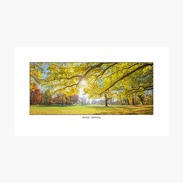 The English Garden in Munich, Germany, in autumn Photographic Print