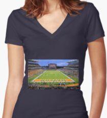 Baylor Touchdown Celebration Women's Fitted V-Neck T-Shirt