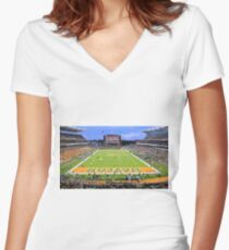 Baylor Touchdown Celebration Women's Fitted V-Neck T-Shirt