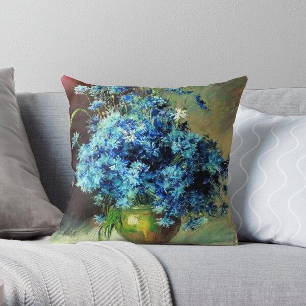 Cornflowers by Isaac Levitan Throw Pillow